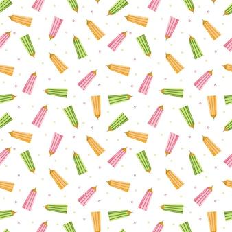 Бесшовный фон с цветными карандашами