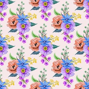 다채로운 식물 꽃 디자인으로 완벽 한 패턴입니다.