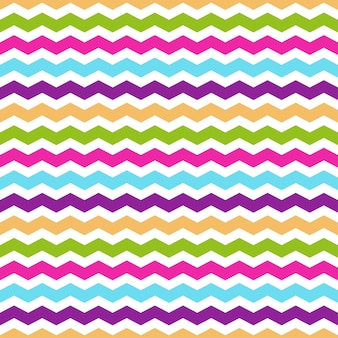 Seamless pattern with colorful chevron