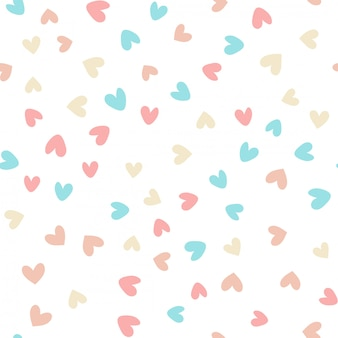 Seamless pattern with colorful hearts. vector