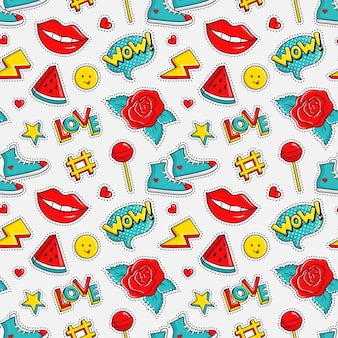 Seamless pattern with colorful patches.