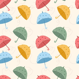 Бесшовные модели с красочными зонтиками