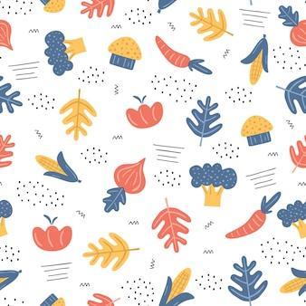 다채로운 야채와 함께 완벽 한 패턴