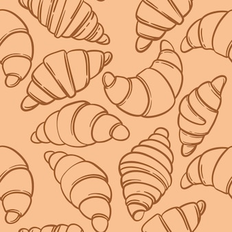 Seamless pattern with croissant. pattern for bakery.