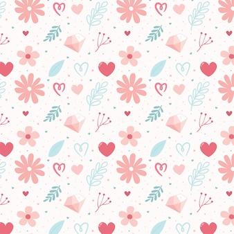 귀여운 꽃 일러스트와 함께 완벽 한 패턴