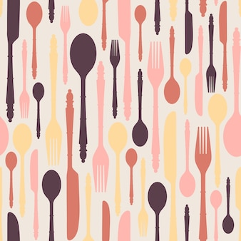 Seamless pattern with cutlery 2