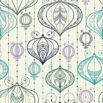 Seamless pattern with decorative elements.