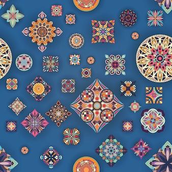 장식 만다라와 완벽 한 패턴입니다. 빈티지 만다라 요소입니다.
