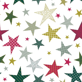 Seamless pattern with decorative stars