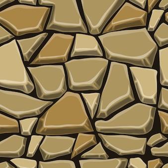 Seamless pattern with decorative stone