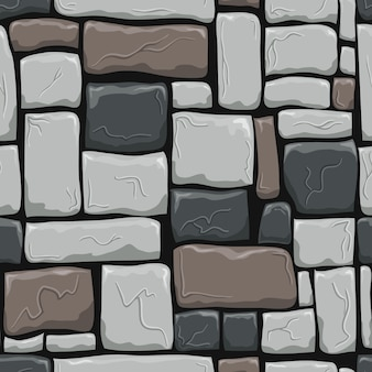 Seamless pattern with decorative stones