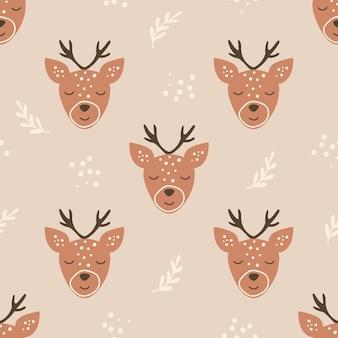 사슴으로 완벽 한 패턴입니다.