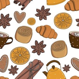 デザートとのシームレスなパターン
