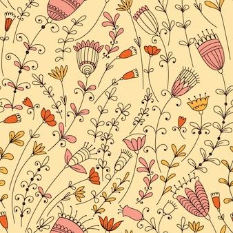別の花とのシームレスなパターン