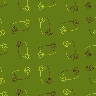 낙서 민들레 꽃으로 완벽 한 패턴