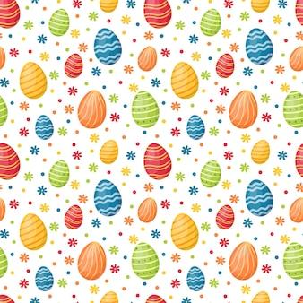부활절 달걀으로 완벽 한 패턴입니다. 행복 한 부활절, 벡터 일러스트 레이 션