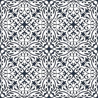 東部飾りとのシームレスなパターン