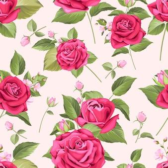 Seamless con motivi floreali eleganti