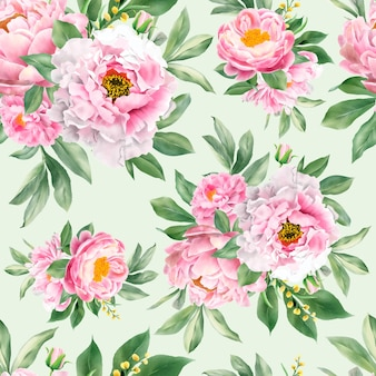 Seamless pattern with elegant floral