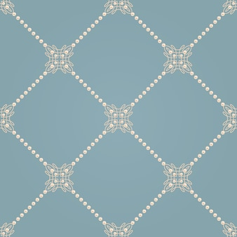 Seamless pattern with elegant knot sign