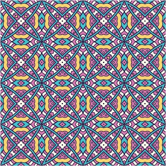 Seamless pattern with ethnic abstract style