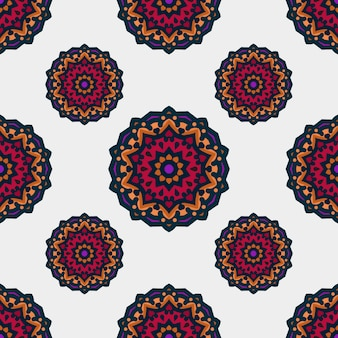 Seamless pattern with ethnic mandala art ornament. mandala seamless pattern. floral mandala pattern