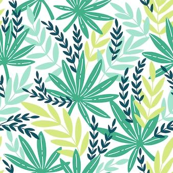 이국적인 잎을 가진 완벽 한 패턴입니다. 열대 잎