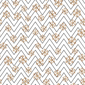 Seamless pattern with falling snow