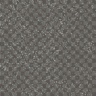 Seamless pattern with falling snowflakes. Vector.
