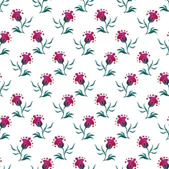 환상의 현대 꽃 배경으로 완벽 한 패턴