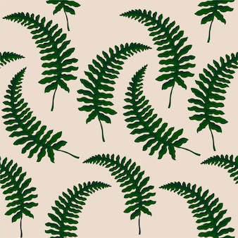 Seamless pattern with ferns.