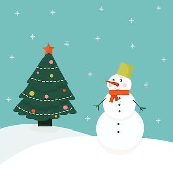 크리스마스를 설명하기 위해 축제 눈사람 배경으로 원활한 패턴