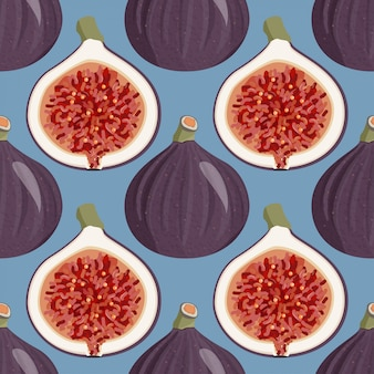 Seamless pattern with figs.