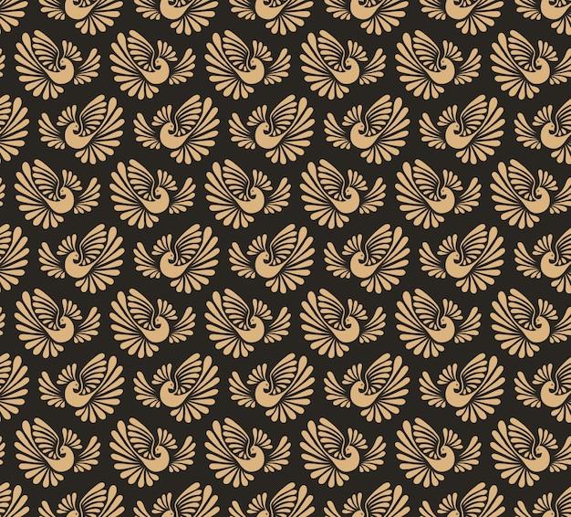 Seamless pattern with firebird.