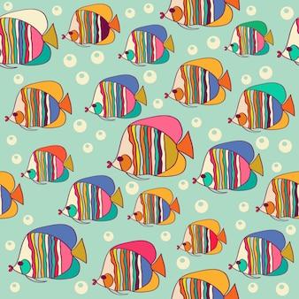 물고기와 함께 완벽 한 패턴