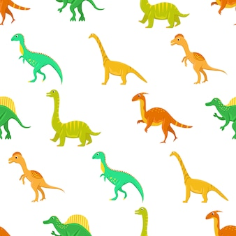 フラット漫画恐竜とのシームレスなパターン。