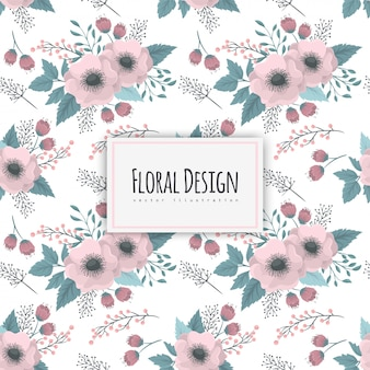 Seamless pattern with floral design