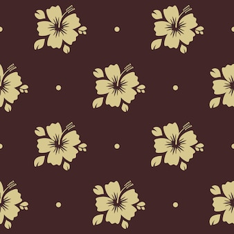 Seamless pattern with flower. floral background decoration with plant,