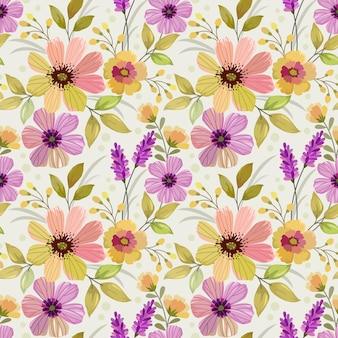 꽃과 잎으로 완벽 한 패턴