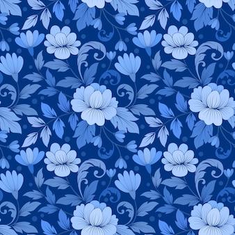 꽃과 잎과 완벽 한 패턴
