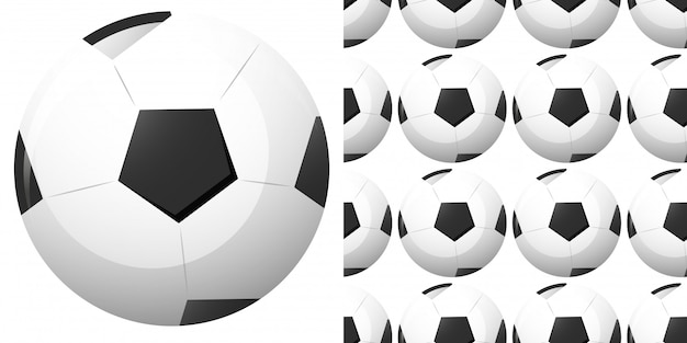 Seamless pattern with football