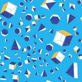 Бесшовный фон с геометрическими фигурами.