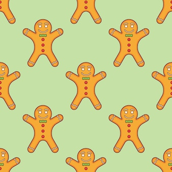Seamless pattern with gingerbread man.