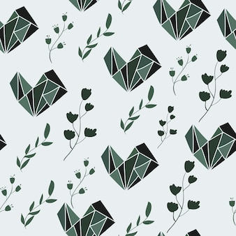 Seamless pattern with graphic and floral elements. vector illustration.