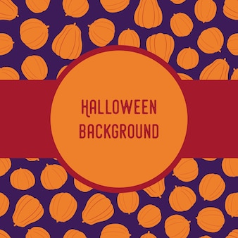 Seamless pattern with halloween silhouettes pumpkins