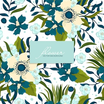 Seamless pattern with hand drawing flowers