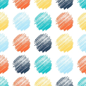Seamless pattern with hand drawn colorful scribble smear. abstract grunge texture. vector illustration