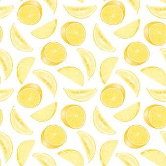 Бесшовные с рисованной лимонов