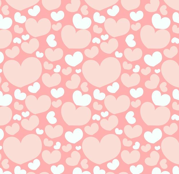 Бесшовный узор с сердечками