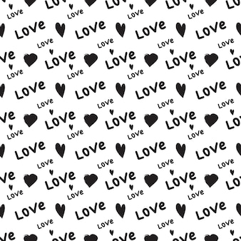 心と愛という言葉のシームレスなパターン
